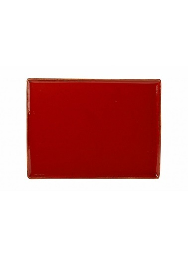 Porland Seasons Kırmızı Kahvaltı Tabağı 35X26Cm Kırmızı
